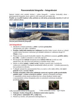 Panoramatická fotografie – fotografování