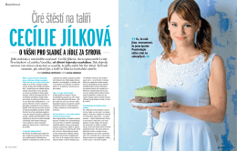 Cecílie Jílková, čiré štěstí na talíři