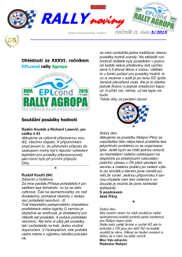 RALLYnoviny - Rally AGROPA