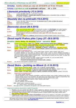 Akce a informace na září 2015 ()