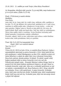 25.10. kázání L. Ridzoňové Abrahame, vyjdi Gn 12,1-7