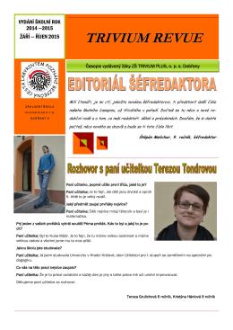 TR září-říjen 2014 - Základní škola Trivium Plus Dobřany