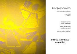 bon(a)boniéra - srpen