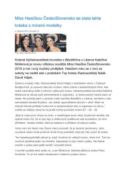 Miss Hasičkou ČeskoSlovensko se stala tahle kráska s mírami