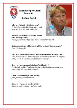 Rozhovor s Radek Bejblem