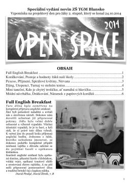 Školní noviny – Open Space 2014