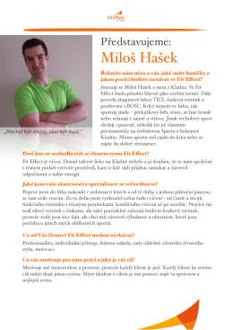 Miloš Hašek - Fit Effect