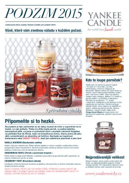Yankee Candle Sweet Treats limitka podzim 2015