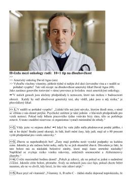 Hvězda mezi onkology radí: 10+1 tip na