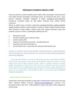 PRÅ®VODCE-STUDENTA-PRAXÃ -verze-ZS-2015
