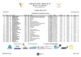 Triatlon SK H.O.P