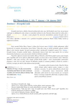 EU Newsletter_unor_2