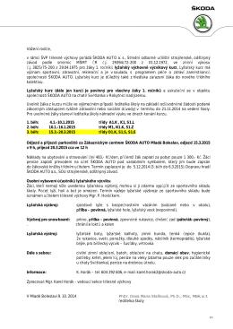 Informační leták - ŠKODA AUTO as, Střední odborné učiliště