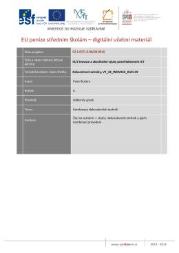 EU peníze středním školám – digitální učební