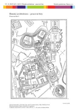Římská architektura – pracovní listy
