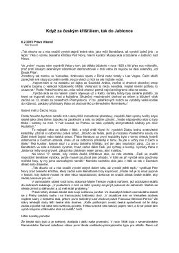 6.2.2015 Právo Víkend – Když za českým křišťálem, tak do Jablonce