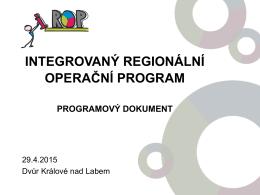 prezentace IROP_Dvůr Králové_290415