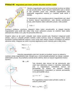 Příklad 46 : Magnetické pole kolem přímého dlouhého