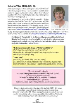 Deborah Vilas, MSW, MS, BA