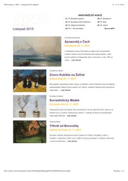 Newsletter - Artplus.cz