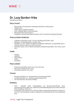 Dr. Lucy Gordon-Vrba