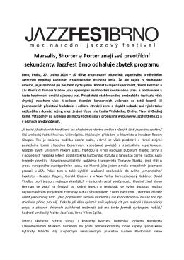 Tisková zpráva s programem