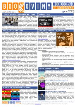 č. 17 – květen 2015 - Městská knihovna ve Svitavách
