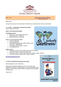 Program na říjen 2015
