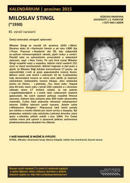 Miloslav Stingl (*1930)