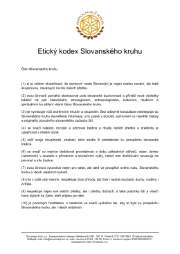 Etický kodex Slovanského kruhu