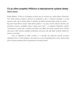 Co je cílem projektu Hříšnice a stejnojmenné vydané desky