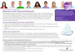 Motivační akce Essential Rewards
