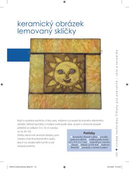 Ukázková kapitola - Keramický obrázek lemovaný sklíčky