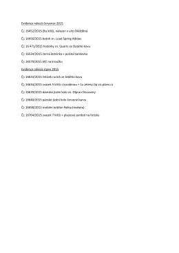Seznam nalezených věcí červenec