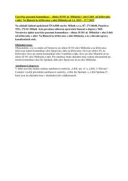 Uzavírka pozemní komunikace – silnice II/101 ul. Mělnická v