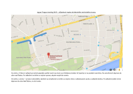 Čtvrtek 21.5.2015 - příjezdová mapka_ Národní technické muzeum