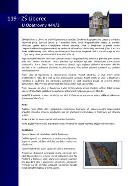 119 - ZŠ Liberec, U Opatrovny 444/3