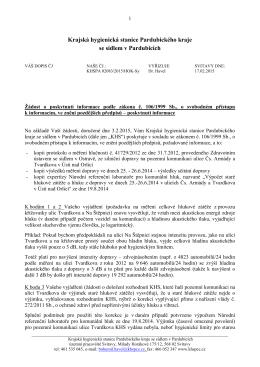 poskytnutí informace 17.2.2015 - Krajská hygienická stanice