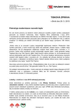 TISKOVÁ ZPRÁVA - Teplárny Brno