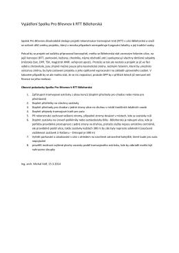 Vyjádření Spolku Pro Břevnov k RTT Bělohorská