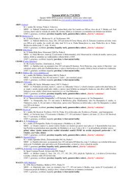 Seznam hřišť (k 17.8.2015)