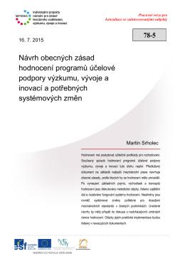 8. Systém hodnocení - Výzkum a vývoj v České republice