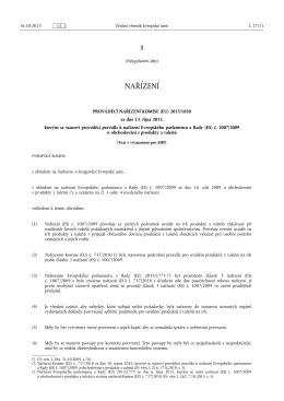 PROVÁDĚCÍ NAŘÍZENÍ KOMISE (EU) 2015/ 1850
