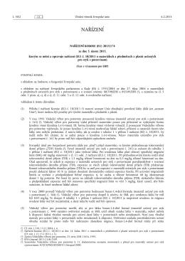 NAŘÍZENÍ KOMISE (EU) 2015/ 174 - ze dne 5. února 2015,