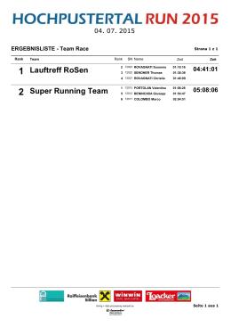 Lauftreff RoSen Super Running Team