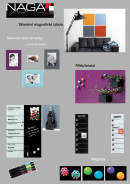 Skleněné magnetické tabule Skleněné foto rámečky Příslušenství