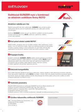 Informační materiál SUNIZER + ROTO + SUPER GLASS