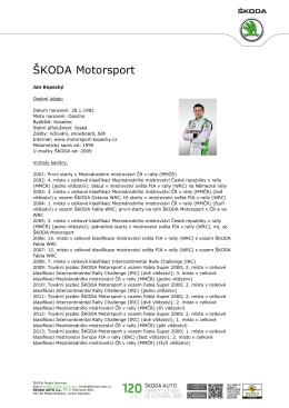 ŠKODA Motorsport - ŠKODA Media Portal