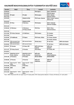 Termínový kalendář 2005
