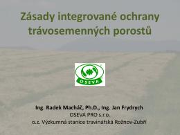 Integrovaná ochrana trav - OSEVA vývoj a výzkum s.r.o.